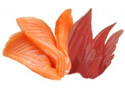 Sashimi    saumon et thon