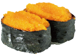 Sushi   masago oeufs capelan